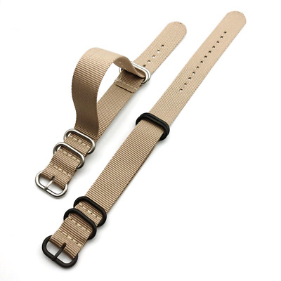 £7.19 • Buy Military Nato Style Beige Nylon Strap Strong Zulu Watch Band Lug Dia 18-24 MM