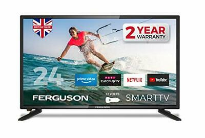 £258.99 • Buy Ferguson F2420RTS -12 Volt 24 Inch Smart 12-volt LED TV With Streaming Apps And