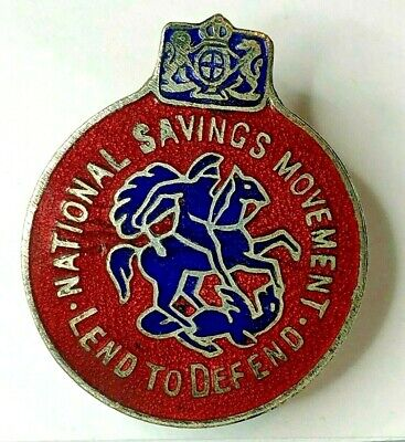 £10 • Buy WW2 Home Front National Savings Movement Lend To Defend Lapel Badge 30 Mm