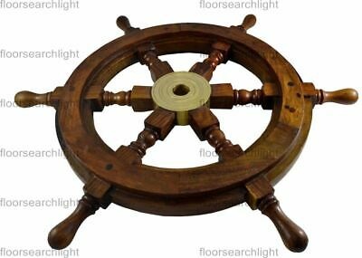 £27 • Buy Nautical Ship Wheel Pirate Captain 18  Brass Wooden Collectible Item For Gift