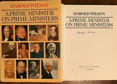 £95 • Buy Hand Signed Book HAROLD WILSON Labour Prime Minister Thatcher Churchill + My COA