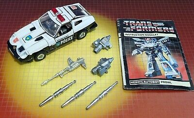 £66 • Buy Vintage Hasbro Transformers G1 Autobot Car Prowl Complete W/Insts