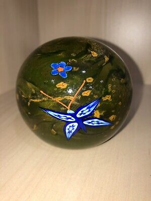 £62.99 • Buy Rare Selkirk Glass 'Summer Magic' Butterfly PH Cane Paperweight Peter Holmes