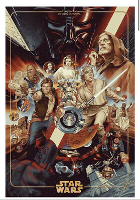 £121.48 • Buy Mondo STAR WARS The Ways Of The Force Timed Edition Screen Print Poster In Hand
