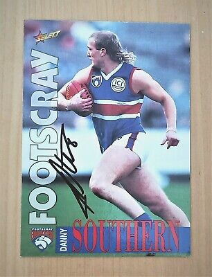 AU4.99 • Buy Afl Select 1996 Signed Western Bulldogs Danny Southern Card