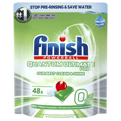 AU23 • Buy 48pc Finish Powerball Quantum Ultimate Pro 0% Dishwasher Tablets Cleaning Home