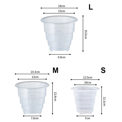 AU12.34 • Buy Clear Plastic Orchid Pots With Holes Hollow Breathable For Gardening-Garden Home