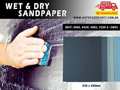 AU17.10 • Buy Silicon Carbide High Quality Wet And Dry Sandpaper 230x280mm From 60-10000 Grit