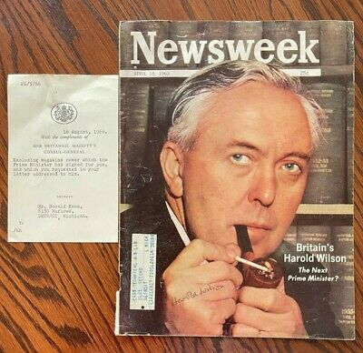 £57.79 • Buy HAROLD WILSON Former Prime Minister Of The United Kingdom SIGNED Newsweek Cover