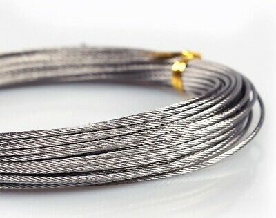 £3.90 • Buy Stainless Steel Wire Rope Cable Of 1mm 2mm 3mm 4mm 5mm 6mm