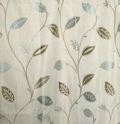£59.99 • Buy Long Curtains Duck Egg Blue Leaf Print Megan Montgomery Lined 88  W X 54  L NEW