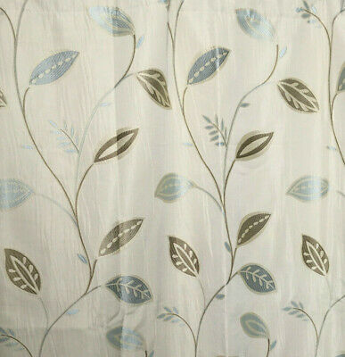 £69.99 • Buy Curtains Long Duck Egg Blue Leaf Print Megan Montgomery Lined 132  W X 54  L NEW