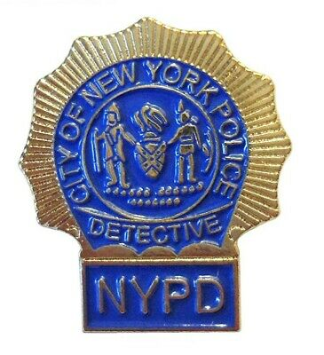 £2.49 • Buy New York Police Department Metal Enamel Pin Badge NYPD Detective Blue/Gold