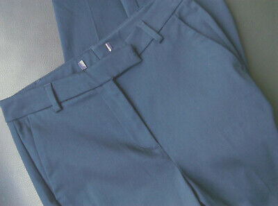 £10.99 • Buy EX M&S Slim Leg ,7/8th  Cropped Stretch Cotton Blend Navy Trousers Size 8 Long