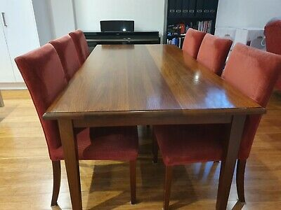 AU400 • Buy Designer (Mark Tuckey) Solid Timber Dining Table And 6 Chairs Used Condition