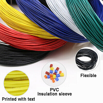 £5.16 • Buy PVC Electronic Wire Cable UL1007 Tinned Copper Stranded Wiring 16AWG To 30AWG