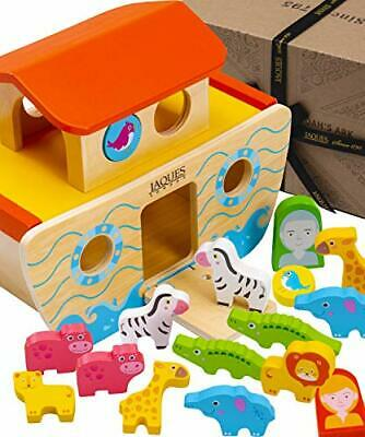 £31.99 • Buy Wooden Noahs Ark Toy Playset   Wooden Toys For 1 2 3 Year Olds   Shape Sorter  