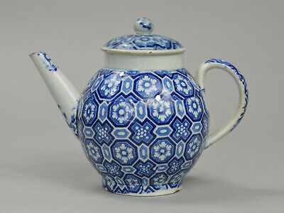 £59.99 • Buy 18th 19th English Porcelain PEARLWARE Blue And White Transferware Small Teapot