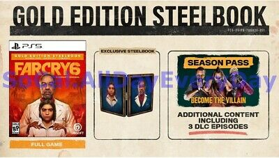 AU199.39 • Buy Far Cry 6 GOLD SteelBook Edition! (PlayStation 5) BRAND NEW & FACTORY SEALED Ps5
