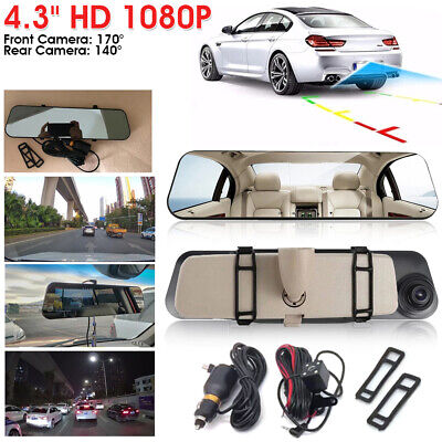 AU43.99 • Buy 1080P Dash Camera Rear View Car Cam Reversing Mirror Front And Rear DVR Recorder