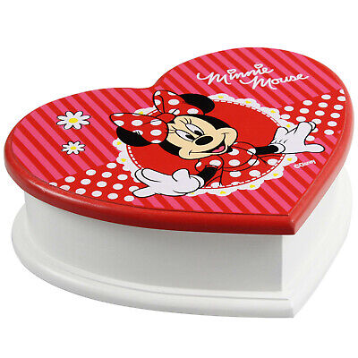 £7.99 • Buy Ex Demo Disney Minnie Mouse Heart Shaped Jewellery Box With Mirror