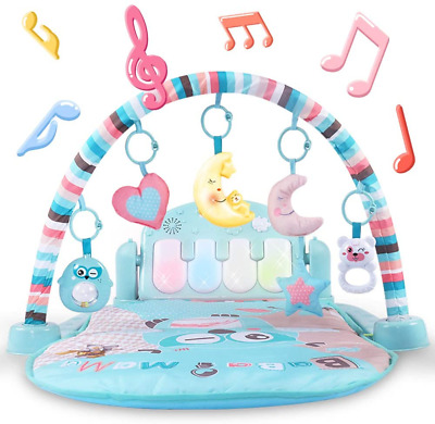 £55.43 • Buy Baby Gyms And Activity Play Mat Kick And Play Piano Gym Centers With Music And &