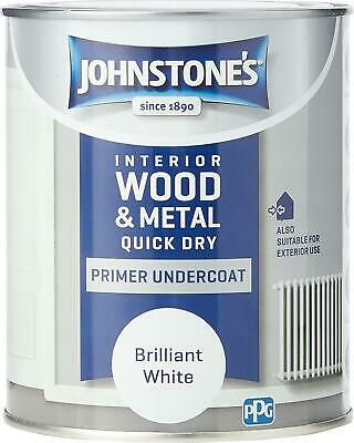 £11.95 • Buy Johnstone's - Quick Dry Primer Undercoat- Suitable For Interior And Exterior