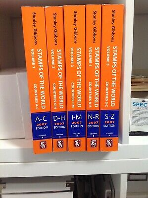 £75 • Buy Stanley Gibbons  Stamps Of The World  Stamp Catalogue 5 Volumes. 2007