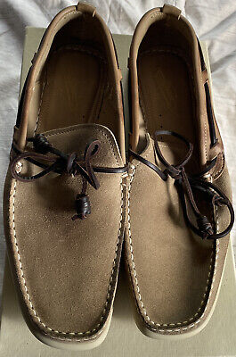 £40 • Buy NDC Timoc Castoro Combo Warm Browns Suede & Leather Boat Deck Slip On Loafers