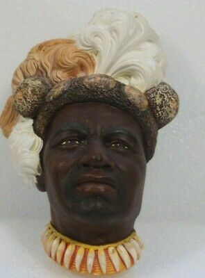 £22.99 • Buy Bossons Wall Plaque Head  Chaka   Zulu Warrior King Collectible Retro Home