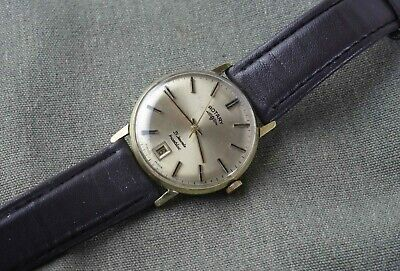 £12.50 • Buy Vintage Rotary Mans Wristwatch, 21 Jewels Incabloc, Gold Plated Case