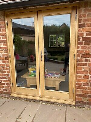 £360 • Buy External Double Glazed Wooden French Doors (two Sets)