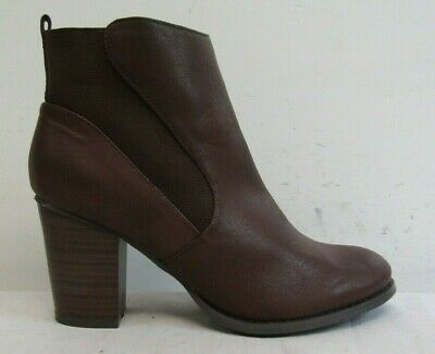 £9.99 • Buy Red Herring Womens Ankle Boots Size Uk 7 Eu 40 Brown Faux Leather