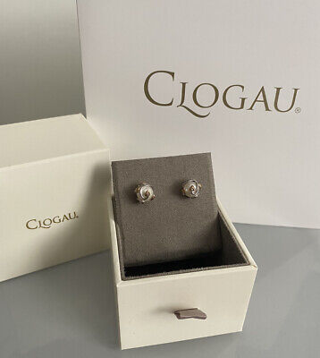 £130 • Buy Clogau Tree Of Life Pearl Earrings, Sterling Silver, 9ct Rose Gold, NEW