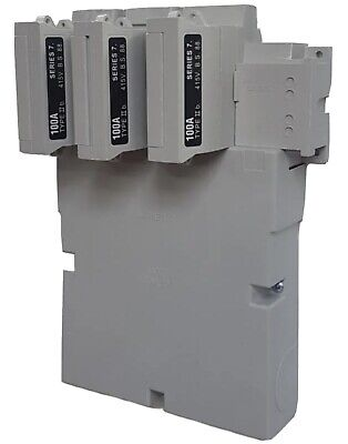 £50 • Buy Series 7 Henley Three Phas Cut Out Fuse Carrier+base 100amp Inc 80 Fuses