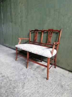 £145 • Buy Antique Edwardian C.1910 Mahogany Two Seater Sofa / Hall Seat / Bedroom Chair