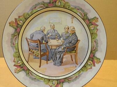 £7.27 • Buy Bridgwood Staffordshire England 10 1/4  Transfer Plate  Strict Whist  Antique