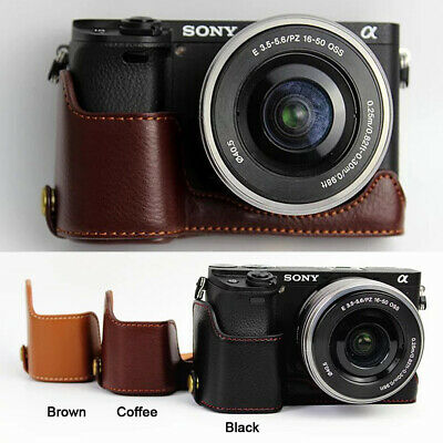 AU16.50 • Buy Genuine Real Leather Half Camera Case Grip For Sony A6400 A6300 A6100 A6000