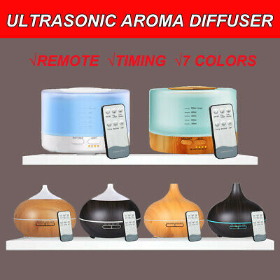 AU22.95 • Buy Remote Aromatherapy Diffuser Aroma Essential Oil Ultrasonic Air Humidifier Mist
