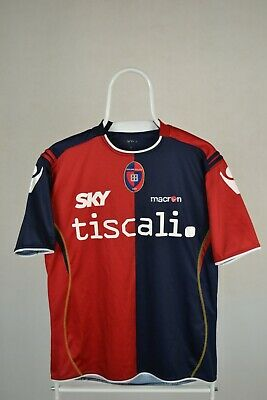 £29.99 • Buy Cagliari 2008/2009 Home Shirt Jersey Size S Small Macron Camiseta Jersey Vintage