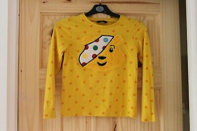£3 • Buy Girl's Long Sleeve Pudsey Bear T Shirt / Top Size 9-10 Years Children In Need