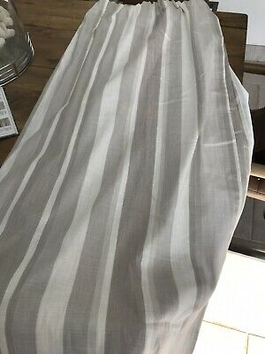 £55 • Buy Laura Ashley Awning Stripe Dove Grey Lined Curtains 162W X 137L