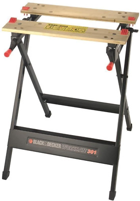 AU69.92 • Buy BLACK+DECKER Workmate, Work Bench Tool Stand Saw Horse Dual 1 - Pack