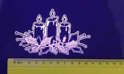 £5.95 • Buy Christmas/Candle/Holly/Cutting/Embossing/Die