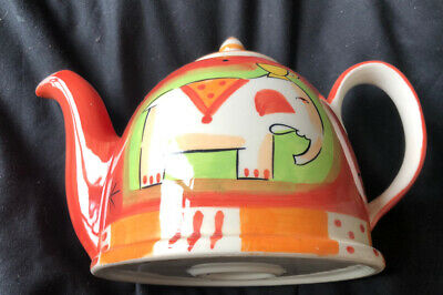 £12.99 • Buy Whittard ELEPHANT Vibrant Orange Teapot Hand Painted Excellent Condition