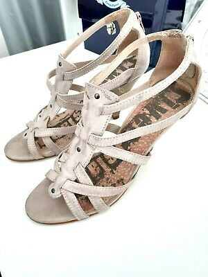 £10 • Buy  RIVER ISLAND  Ladies Stone Coloured Strappy Heeled Shoes Size 6