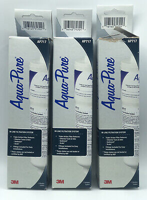 £33.41 • Buy Lot Of (3) 3M Aqua-Pure AP717 In-Line Filtration System Water Filter NEW IN BOX!