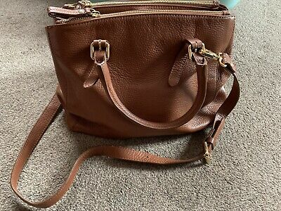 £5 • Buy Russell And Bromley Tan Leather Shoulder Bag Grab Bag