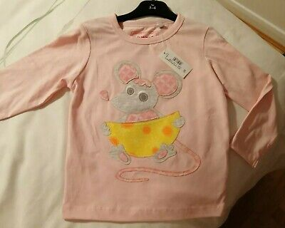 £2.99 • Buy Blue Zoo New Long Sleeved Pink Top 3 - 4 Years Mouse Motiff