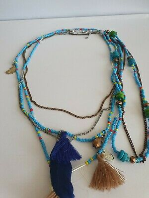 £6.25 • Buy Multi Strand Beaded Native American Style Necklace